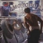 Nick Kamen stonewashing his Levi jeans